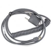 Quality For LS2208 Scanner 3M Rs232 Com Coiled Cable For Motorola Symbol LS2208 LS4208 DS6708 for sale
