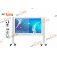 China Floor Standing LCD Digital Advertising Player Touch Screen With Fans Cooling System on sale