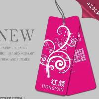 China Printed Glossy Art Paper Hang Tag For Underwear, Die Cut Art Paper Hang Tags with Punching Hole And String on sale