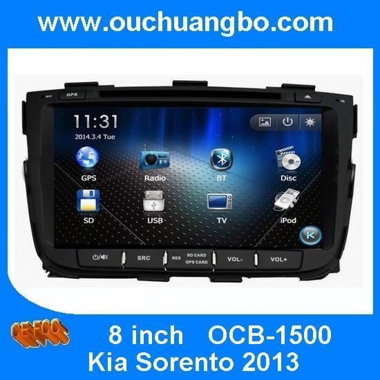 Buy Ouchuangbo car Radio DVD for Kia Sorento 2013 GPS Sat Nav Multimeia Kit iPod USB Italy map at wholesale prices