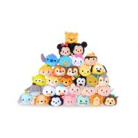 Hot Disney Tsum Tsums Collection Plush Toys For  Mobile Phone Screen Cleaner Keychain Bag