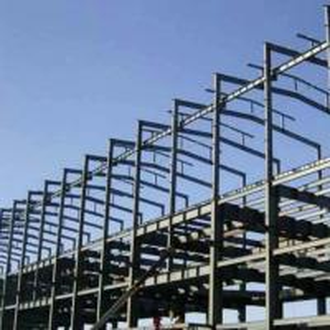 Quality Q345B  Garage Steel Frame Grey Color Paint, Industrial Garage 5000 square meter for sale