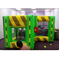 China Indoor Outdoor Inflatable Interactive Games / Inflatable Dunk Tank System For Kids wholesale