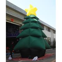 China Green PVC Coated Nylon Advertising Inflatable Chrismas Tree For Decoration on sale