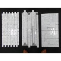Quality White Marble Mosaic,Herribone Mosaice,Hexagon Mosaic,Basket Wave Design Mosaic for sale