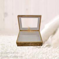China Luxury Burlwood Blank High Gloss Wooden Personal Gift Box with Window on Lid , Personalized Logo Brand. on sale