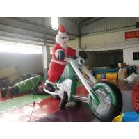 Quality Inflatable Outdoor Christmas Decorations / Giant Inflatable Santa Claus for sale