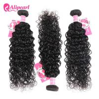 Quality 8A Quality Virgin Brazilian Human Hair Bundles Water Wave No Oiled Gloosy for sale