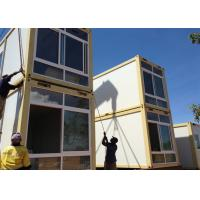 Quality Two Story Prefabricated Container Houses , Flat Roof House for sale