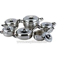 Quality 12PCS STAINLESS STEEL COVER 18/10 STAINLESS STEEL COOKWARE SET,KITCHENWARE for sale