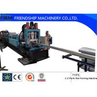 Heat Treatment C Z Purlin Roll Forming Machine With Cr12 Punching Device