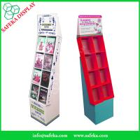 Quality Pop Cheap Custom printed Promotion Rack Supermarket advertising shelf Cardboard DVD CD display stand with pockets for sale
