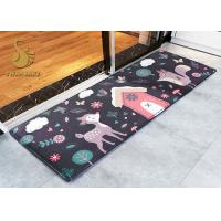 Modern Cartoon Indoor Area Rugs / Cushion Non Slip Entrance Mats