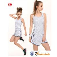 Quality White Girls Tennis Clothing Denim Jumpsuit Tennis Wear Tops and Shorts for sale