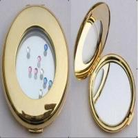 Quality Metal Make Up Mirror, Decorated with Swarovski Crystal Stones for sale
