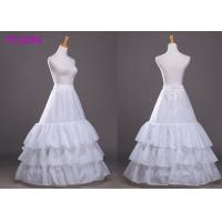 Quality White Six Hoops Ball Gown Petticoat / Underskirt Tea Length Crinoline Petticoat for sale