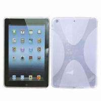 Quality TPU Cases for Mini iPad with X Shape Pattern, Anti-skiddy Feature for sale