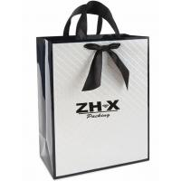 Quality PP Handle White Jewelry Paper Bags Foil Stamping JPB-NO003 Easy Maintain for sale
