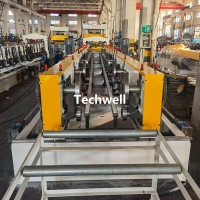 Quality 100-600mm Perforated Cable Tray Making Machine With Hydraulic Punching Pre Cutting for sale