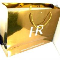 Quality 200g Gold Color Custom Paper Bag Printing Coated Paper for sale