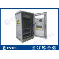 Quality Waterproof 24U Single Wall Insulated Outdoor Telecom Cabinet  / Temperature Control Box for sale