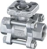 Buy cheap 3PC Screwed Ball Valve with Mounted Pad from wholesalers