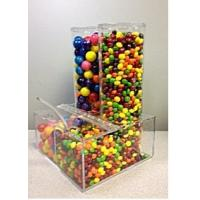 China Plexiglass Display Cases ,Clear Acrylic Candy Dispenser With Notched Lid on sale