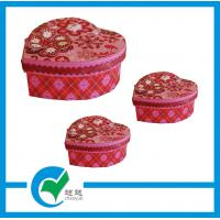 Quality Girls Red Heart Shaped Gift & Craft Cardboard Jewellery Boxes for Gift Packing for sale