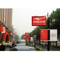 Quality Pole Poster P4 LED Advertising Display At Walk Street Aluminum Cabinet for sale