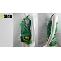 Quality OEM Green Cheerleading Sports Bra Tops and Shorts , XS S M L XL XXL Size for sale