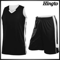 Quality Custom White And Black Basketball Wear Team Uniforms with Quick Dry Fabric for sale