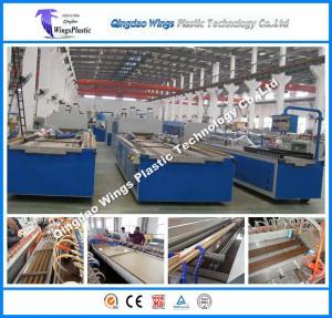 Quality PVC PE Wood Fiber WPC Profile Production Line for Pallet Profile Packing Pallet Profiles Door Frame Profiles for sale