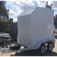China Fully Framed 8 x 5 Furniture Van Trailer , Single Axle Small Enclosed Utility Trailer on sale