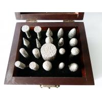 Quality 20pcs/set Diamond Mounted Points With Wooden Box For Carving / Sanding for sale