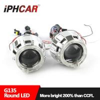 Quality IPHCAR Led Projector Lens Light Angel Eyes High and Low Beam Projector Lens Lamp for sale