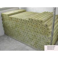 Quality Rigid Rockwool Pipe Insulation , Rockwool Pipe Section 22 - 529 mm Dia for sale