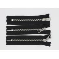 Decorating Denim Clothing Closed Ended Metal Zips , High Polished Double Ended Zip