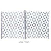 Ventilated Steel Accordion Security Gate , Double Folding Security Gate 16*8 Feet
