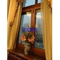 Quality Residential Brown Aluminium Double Glazed Windows Water Resistant High Strength for sale