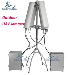 Quality Waterproof 190w 2km 2.4G GPS 5.8G UAV Drone Signal Jammer for sale