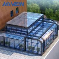 China Curved Eave Glass Curved Roof Sunroom With Single Toughened Roof Glass on sale
