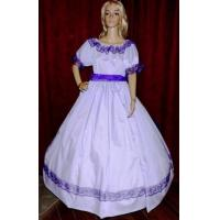 Quality Wholesale CIVIL WAR ANTEBELLUM DICKENS PIONEER REENACTMENT Lavender Costume Dress Gown for sale