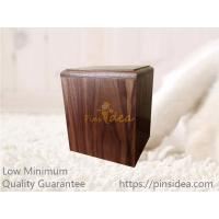 Quality Pet Funeral Supply Crematory Walnut Wood Traditional Memorial Cremation Ashes Urn Box, laser engravable, small order for sale
