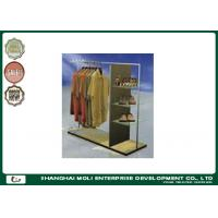 Quality Removable Retractable Retail Garment Racks Melamine laminated or high gloss UV painting for sale