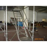 Quality Safe 800Kg / ㎡ Ladder Ring Lock scaffolding System / Steel Scaffold Tower for sale