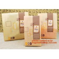 Quality Professional Food Safe Opp Clear Window Paper Bags Offset Printing, OEM Block Bottom Bags Tin Tie White Paper bags with for sale