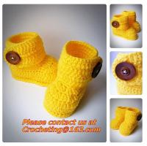 Cute Toddler Unisex Baby Infant Handmade Crochet Knit Colored Cartoon Socks Crib Shoes