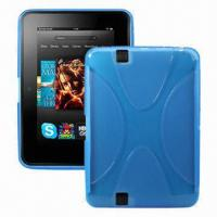 Quality Tablet PC Cases for Kindle Fire HD, Made of TPU, X Line Design, 7-inch, Various Colors Available for sale
