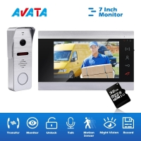 Quality Wired Video Intercom 7 Inch Monitor Video Door Phone for Apartment and Villas Access Control System for sale