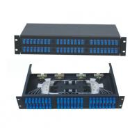 China 48 ports Rack-Mount  19'' 2U Fiber Optic Patch Panel for SC/UPC adapter terminal box black cold-roll steel sheet on sale